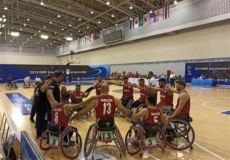 بسکتبال با ویلچر قهرمانی آسیا-اقیانوسیه، عبور تیم مردان ایران از دیوار چین، مرتضی عابدی امتیازآورترین بازیکن میدان شد