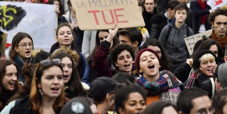 دانشجویان فرانسوی تظاهرات کردند