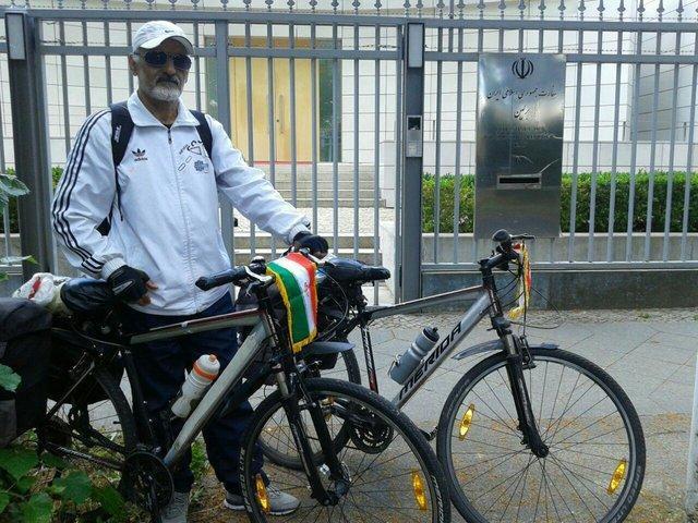 سفر سفیر صلح دوچرخه سوار ایرانی به چند کشور اروپایی