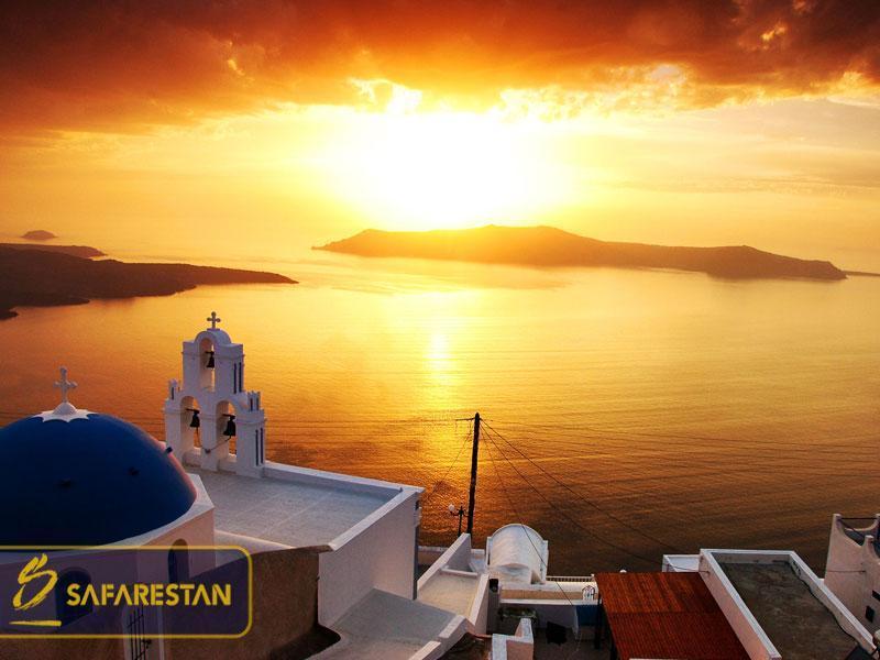 بلیط هواپیما به سانتورینی خانه سپید یونان