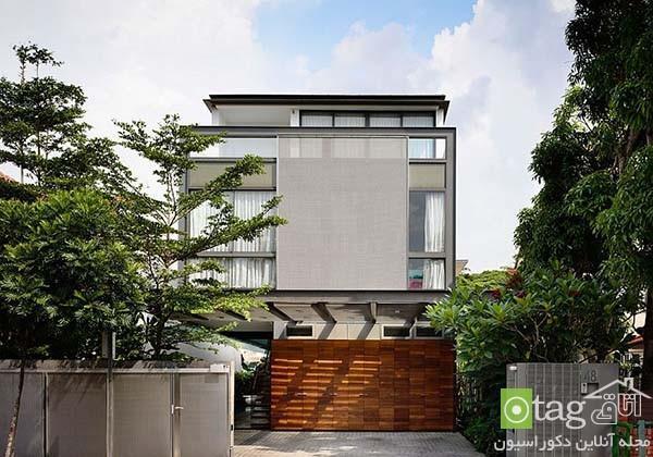 آنالیز نمای داخلی و خارجی منزل مسکونی مدرن در کشور سنگاپور