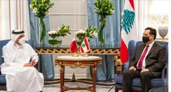 ملاقات نخست وزیر موقت لبنان با وزیر خارجه قطر