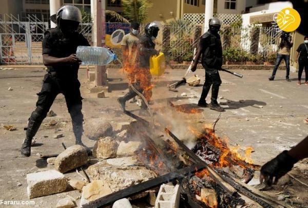 (تصاویر) آشوب در پایتخت سنگال