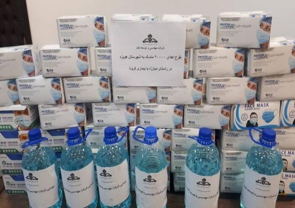 نفت بسته های بهداشتی و ضدعفونی در هویزه توزیع کرد