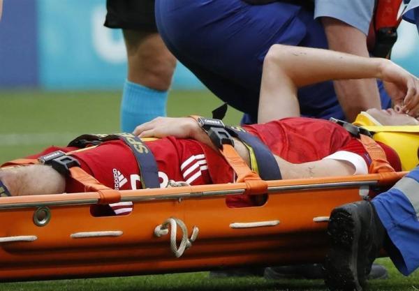 یورو 2020، آسیب دیدگی شدید بازیکن روسیه