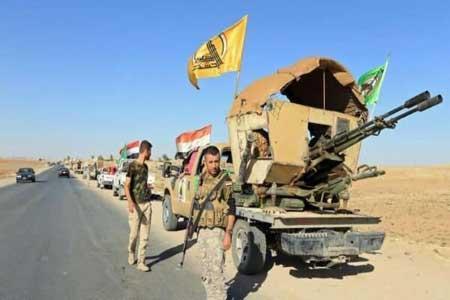 آماده باش نیروهای حشد الشعبی در غرب عراق
